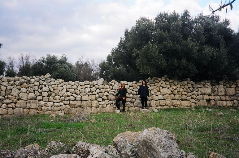 Givat Sher - ancient walls integreted into more recent walls