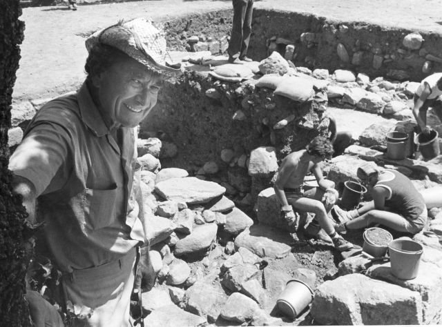 Biran at Tel Dan circa 1984