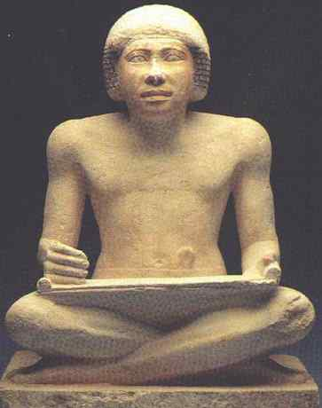 An unknown Egyptian scribe
